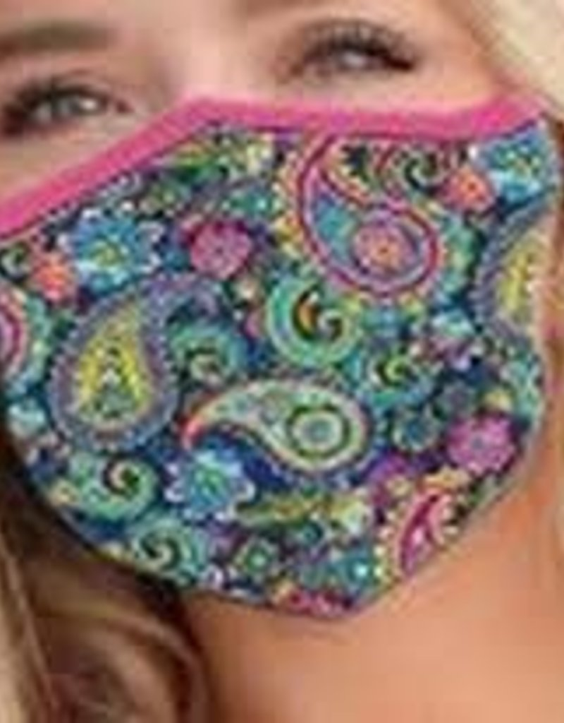 Girlie Girl FASHION MASKS ONE SIZE W/FILTER PAISLEY