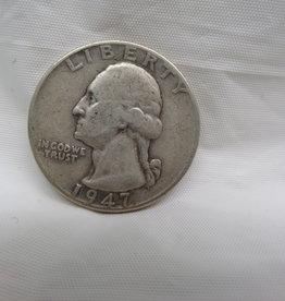 US Mint 1947 QUARTER, CIRCULATED, NO MINT MARK