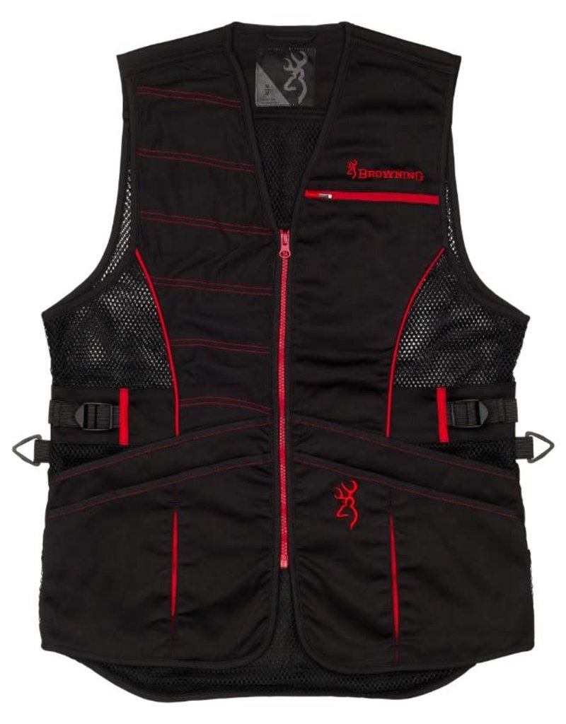 Browning Browning Ace Shooting Vest for Her Black/Red L