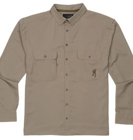 Browning MEN'S BROWNING OGDEN SHOOTING SHIRT/ LARGE/GRAY