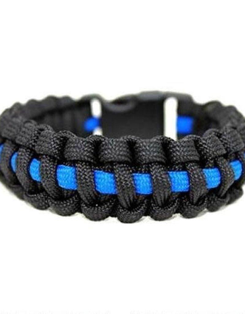 Thin Blue Line 550 Paracord Surival Bracelet E1-PCB550