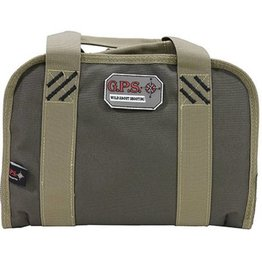 "GS Outdoors G.P.S. Double ""Compact Pistol"" Case - Rifle Green/Khaki GPS-1105PCRK"