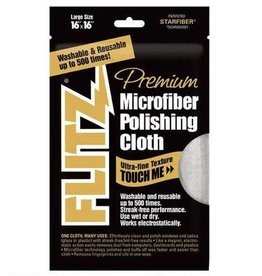 "FLITZ PRODUCTS Flitz Premium Microfiber Polishing Cloth 16""x16"" MC200"