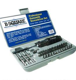 B-SQUARE B-Square Professional Gunsmithing Screwdriver Set 26 Piece Steel Hardened Bits Hard Plastic Case T0045