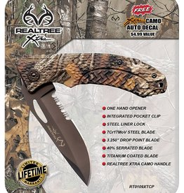 Red River Cutlery Red River Folder Knife with ABS Xtra Handle Design Realtree Xtra, RT0109XTCP