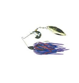 T&J Lures HUMDINGER SPINNERBAIT 1/4OZ PURPLE/RED/BLUE GOLD COLORADO/NICKEL WILLOW BLADE