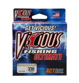 Vicious VICIOUS ULTIMATE 14 LBS TEST ,330 YDS LO-VIS CLEAR FISHING LINE