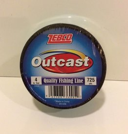 ZEBCO CORP. ZEBCO OUTCAST 4 LBS 725 YDS FISHING LINE