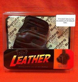 BULLDOG CASES BULLDOG CASES Deluxe Molded Leather Holster w/Thumb Break #LMH-XSZ Black