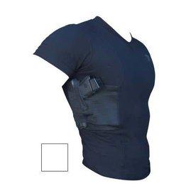 TAGUA GUNLEATHER TAGUA MAN SPANDEX HOLSTER T-SHIRT, BLACK, XLG, #SHTS-XL-001