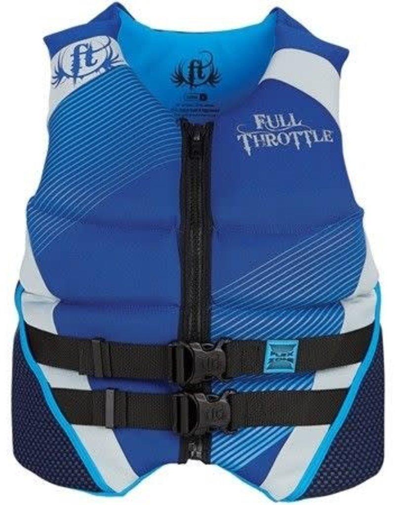 Full Throttle FULL THROTTLE - 142400-500-040-15 - FTHR VEST NEO FLEX ZONE BLUE LARGE