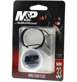 Radians Radians Smith & Wesson M&P Corded Earplugs Foam 2 Pair Black MP81TC2