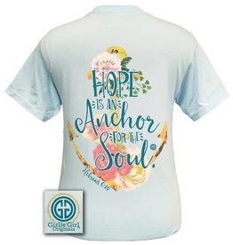 Girlie Girl Girlie Girl Hope Is An Anchor Blue Tshirt Women's 2xl