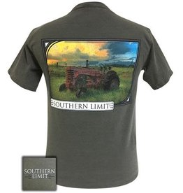 Girlie Girl SOUTHERN LIMIT SUNSET AND TRACTOR T-SHIRT SIZE SMALL