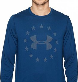 Under Armour Under Armour Men's Freedom Jacquard Long Sleeve Shirt, Blackout Navy/White, Lrg