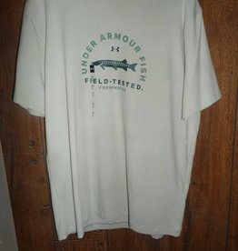 Under Armour Under Armour Muskie Heat Gear Tshirt Size Large White/Olive Green