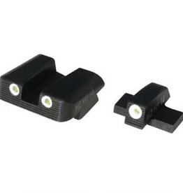 Hi-Viz HiViz NiteSite Low Profile Tritium 3-Dot Night Sight Set Green SGN1288