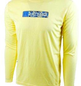 Heybo Outdoors Heybo Reef Performance XXL Long Sleeve Shirt Hey5203 Pale Yellow Tunaflage