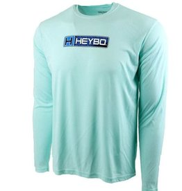 Heybo Outdoors Heybo Reef Performance Long Sleeve Shirt SEA MIST LARGE TUNAFLAGE HEYBO LOGO