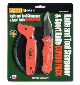 Accusharp Knife and Tool Sharpeners AccuSharp Sharpener & Sport Knife Combo Blaze Orange