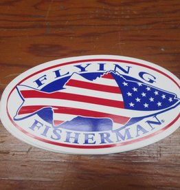 Flying Fisherman Flying Fisherman American Flag Fish Sticker