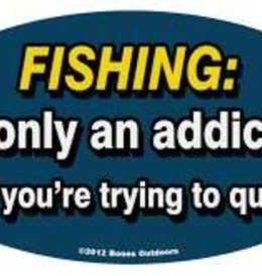 Bones Outdoors Bones D1313 FISHING: It's only an addiction if you're trying to quit Decal D5031