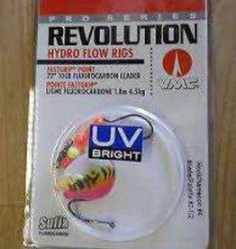 Sufix Revolution Hex Tandem Spinner Rig 2-1/2 Pink Fire UV