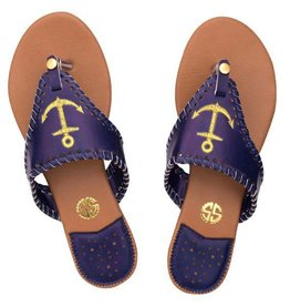 Simply Southern Simply Southern Sandals Navy with Gold Anchor Size 7