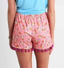 Simply Southern SIMPLY SOUTHERN SHORTS W/TASSEL SP18-09 WILD S-M