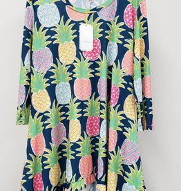 Simply Southern SIMPLY SOUTHERN TUNIC WITH PINEAPPLES SIZE LARGE