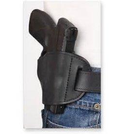 BULLDOG CASES Bulldog Black Molded Leather Belt Slide Holster