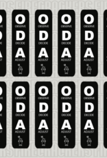 ODA Sticker Sheet BLACK