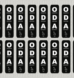 ODA Sticker Sheet BLACK