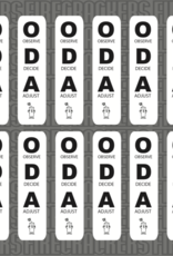 ODA Sticker Sheet WHITE