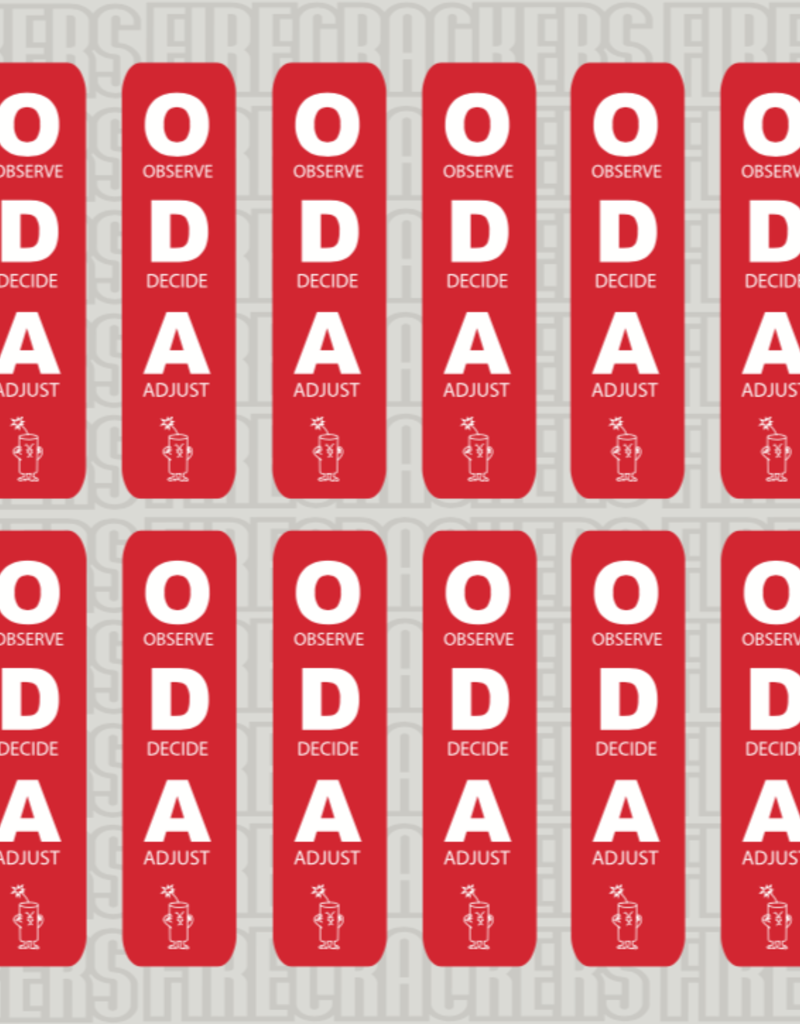 ODA Sticker Sheet RED