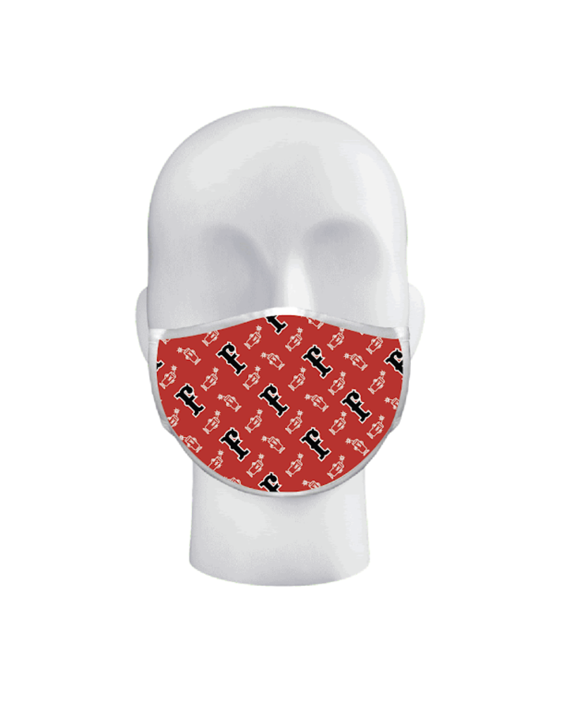 Firecracker Dude Mask Red/White