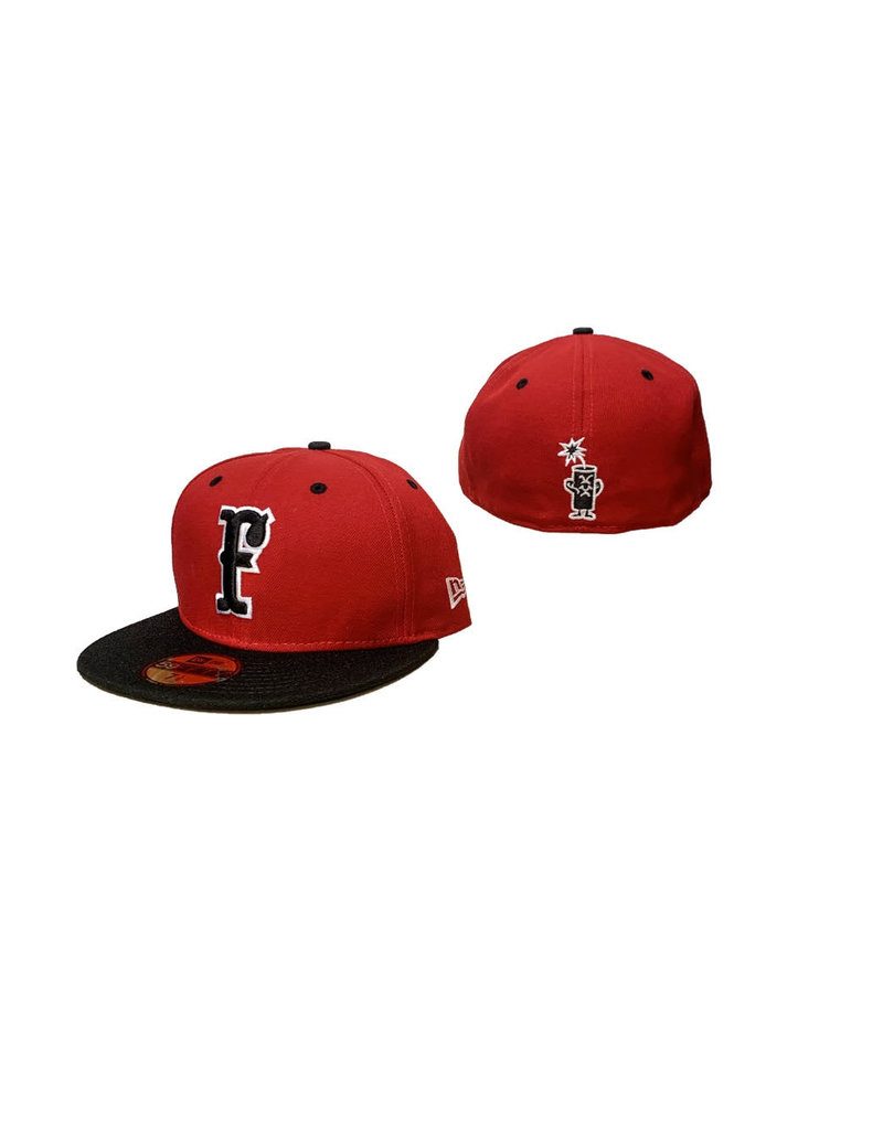 5950 New Era Fitted Hat Red/Black