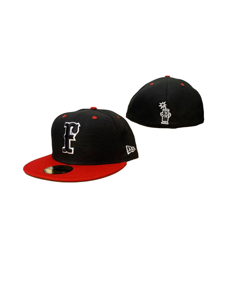 5950 New Era Fitted Hat Black/Red