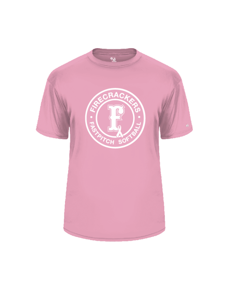 badger 2020 Breast Cancer Dri-fit LIGHT PINK