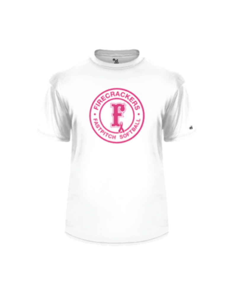 badger 2020 Breast Cancer Dri-fit WHITE