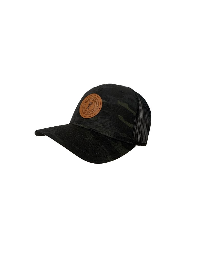 Leather Patch Snapback (Multicam)