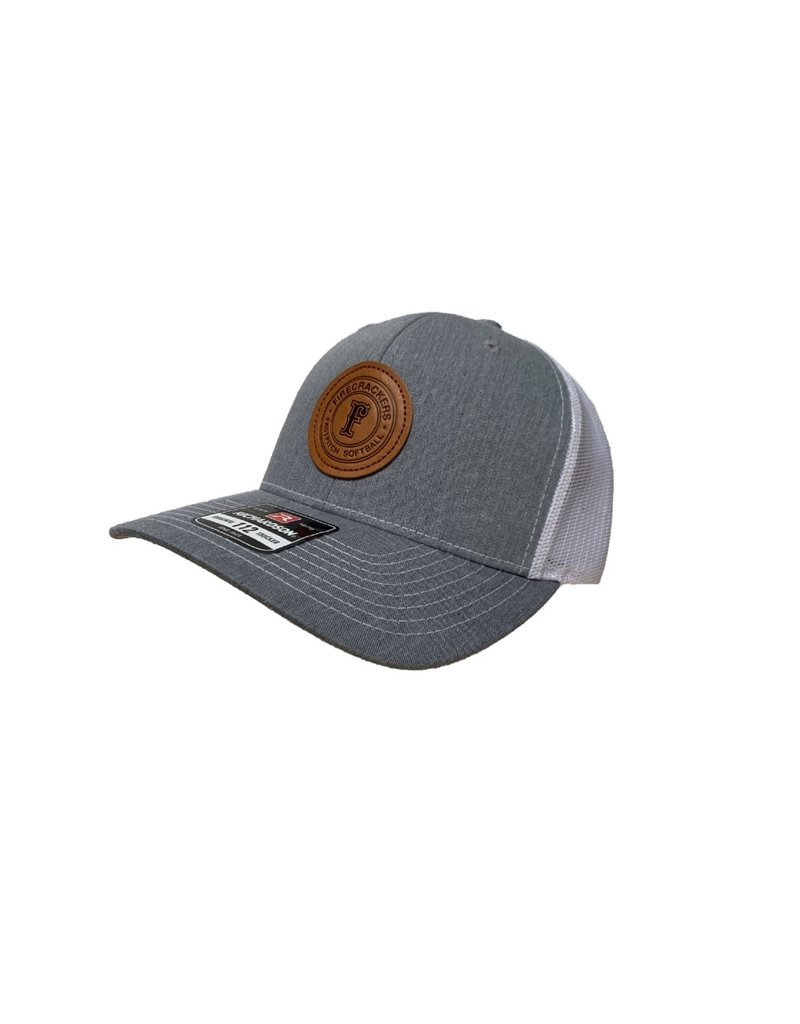 Leather Patch Snapback (Charcoal/White)