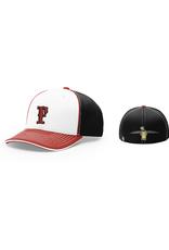 pacific headwear FC Trucker Fitted Hat (White/Black)
