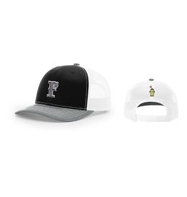 Snapback 'F' Hat (Black/Charcoal)