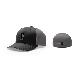 pacific headwear FC Trucker Fitted Hat (Black/Charcoal)