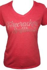 Rhinestone Script Logo Shirt