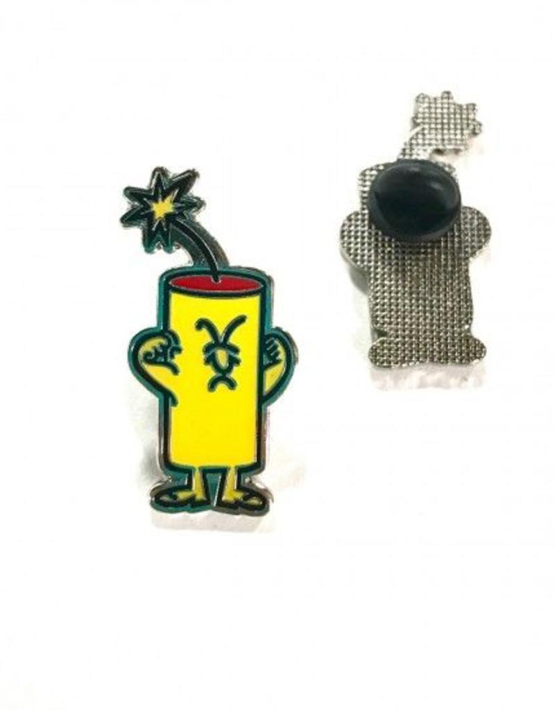 Firecracker Dude Trading Pin