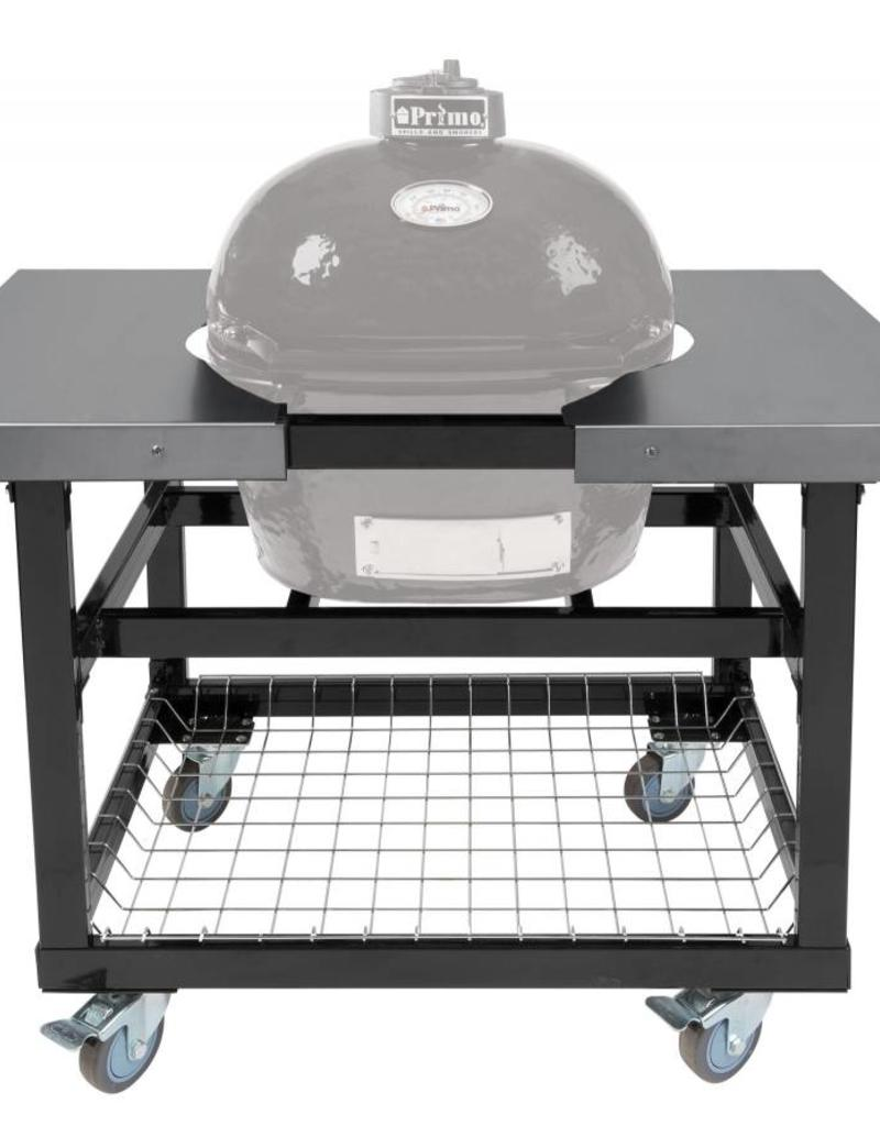 Primo Ceramic Grills Primo Cart with Basket and Stainless Steel Side Shelves for Oval JR. 200