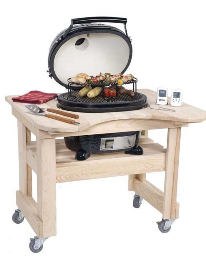 Primo Ceramic Grills Primo Cypress Table for Oval JR. 200