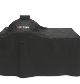 Primo Ceramic Grills Primo Grill Cover for Oval LG 300 or JR 200 with Counter Top Table